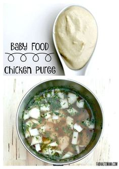 Baby Food. Chicken baby puree is a great way to introduce meat to your babies age 6 months and up.