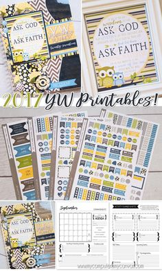 2017 Young Women Printables!! YW Presidency Planner, printable Class Presidency…