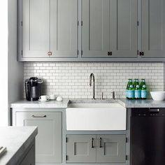 Grey Kitchen Cabinets Contemporary Farrow And Ball Plummit Damon Liss Design