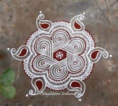 Rangoli and Art Works: DOTTED KOLAM (7-4 DOTS)
