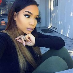 classic lace wigs SLAY YOUR Ombre human hair wigs Flawless Makeup, Beauty Makeup, Hair Makeup, Hair Beauty, Makeup Inspo, Makeup Inspiration, Dull Hair, Pretty Eyes, Hair Journey