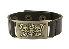 Butterfly Leather Bracelet, Adjustable -- Learn more on valentines gift ideas by visiting the image link.