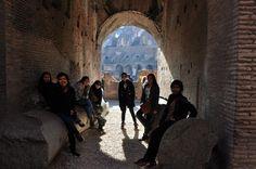 Boyband photoshoot :)) - Inside Colosseo, Rome Italy