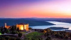Aiguines castle above the sainte Croix lake in the Gorges du verdon, France