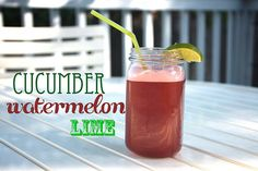 Cucumber Watermelon Lime Juice        1/2 English cucumber      1 small seedless watermelon      1/2 lime    It's important to take the green skin off the watermelon before you start juicing.  Once that's done, juice the watermelon and cucumber then add a squeeze of lime to your drink at the end!  You are going to be amazed at how much juice comes out!  There's barely any pulp too.  Makes a little over 2 cups of juice.    Article printed from shutterbean: http://www.shutterbean.com    URL to…