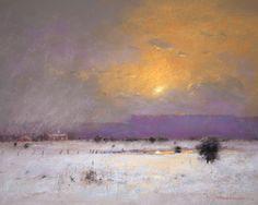 Snow at Sunset