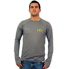 Grey/Citron Sporthill UO Crescent Long Sleeve Tee