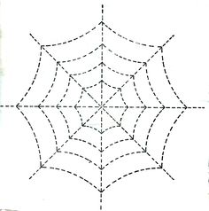 quilt pattern spider web | Vintage Crafts and More - Halloween Spider Web Quilting Pattern