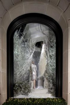 Ralph Lauren. The windows at 888 Madison Ave. in New York decorated for Christmas