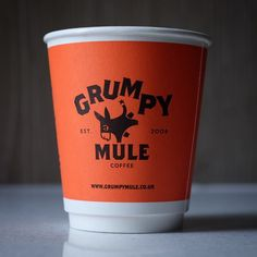 Coffee Cup  Grumpy Mule   . @grumpy_mule . . . . .  #coffee #coffeetime #orange #thirdwavecoffee #coffeecupsoftheworld #coffeeroaster  #packagedesign #packagingdesign #vscodesign #packaging #behance #design #pinterest #コーヒー  #design #behance #coffeecup #papercup #mule #coffeetogo #graphicdesign #takeawaycoffee #papercupcoffee #coffeegram #instacoffee #igcoffee by des_coffee
