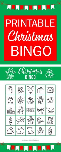 This Printable Christmas BINGO is perfect for a school holiday party or a holiday themed family game night. A great Christmas activity for kids! Sunshine and Hurricanes. via Holiday Printable Christmas BINGO School Holiday Party, Holiday Party Themes, School Parties, School Holidays, Holiday Crafts, Party Ideas, Christmas Parties, Theme For Christmas Party, Bingo Holiday