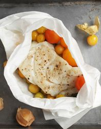 cod with ground cherries en papillote black cod and ground cherries ...
