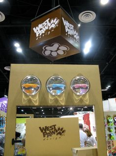 """I usually steer clear of trade show booth design since there are so many nit-picky rules but West Pawasked me to design their booth, and they are so cool I just couldn't help myself. They are truly """"eco"""" and not in the trendy """"trying-to-look-eco"""" way. Their main focus is dog beds made from recycled plastic bottles! The project was an incredible challenge as I wanted the entire fixture package, marketing, …"""