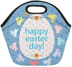 Happy Easter Insulated Lunch Tote Bag Reusable Neoprene Cooler Portable Lunchbox Handbag For Men Women Adult Kids Boys Girls Insulated Lunch Tote, Lunch Tote Bag, Happy Easter Day, Handbags For Men, Kids Boys, Boy Or Girl, Lunch Box, Girls, Women
