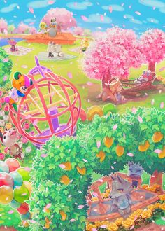 Animal Crossing Spring time