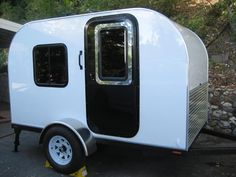 This is a 5′ x9′ Tiny Travel Trailer guest post by Kay Beam – share yours! I built a 5′ x 9′ tiny travel trailer. I wanted something to camp in with hard sides so that I cou…