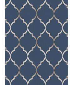 This Fretwork Geometric Wallpaper features a geometric trellis pattern in metallic silver on a soft textured midnight blue background. Geometric Wallpaper Prints, Textured Wallpaper, Wall Wallpaper, Pattern Matching, Trellis Pattern, High Quality Wallpapers, Blue Backgrounds, Midnight Blue, Blue And Silver