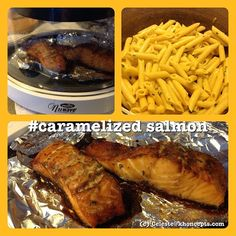 .@acsheffey | #Pinterest recipe for #caramelized salmon in #Nu Wave oven with side dish of z... | Webstagram - nu wave recipes NuWave recipes