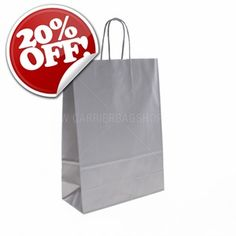 Carrier Bags, paper bags, tissue paper and plastic bags at great prices. Printed carrier bags also available within 7 days. Additional gift packaging and retail supplies also on sale. Next day delivery available within the UK. Printed Carrier Bags, Paper Carrier Bags, Retail Supplies, Silver Bags, Silver Paper, Gift Packaging, Uk Shop, Tissue Paper, Paper Shopping Bag