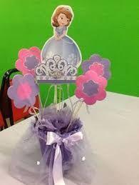 Resultado de imagem para princesa sofia decoracion centros de mesa