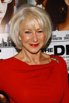 Helen Mirren.  Her hair always looks great.