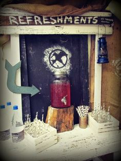 Refreshment stand in The hob at our Hunger Games Party