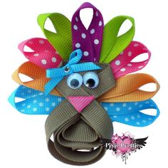 Brite Turkey Diva Ribbon Sculpture