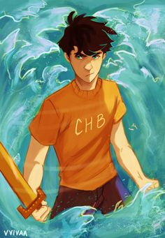 vvivaa:  guess who jumped the bandwagon and started reading percy jackson? i'm only on the 3rd book so he's not this old yet but i just wanted to draw him older so forgive me if i messed up his older design since i haven't reached that yetok back to reading