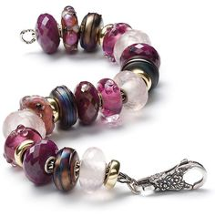 Desperately want a deep ruby, maroon or burgundy bead. Gorgeous winter colours on this string.