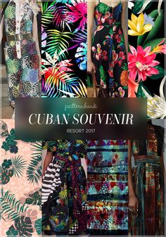 Cuban Souvenir » Chanel / Bright Tropics by Mariia / Valentino / Tropical Pattern by Manukian Aspram / Pop Tropic Print by Claire Parker / Marc Jacobs / Dark Space by angela23 / Valentino