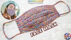 In today's video, I'll be showing you how to crochet a face mask. Mask become our primary need especially when going out. I am thankful that we are not in mask pattern Crochet Mask, Easy Crochet, Free Crochet, Tutorial Crochet, Blanket Crochet, Crochet Braids, Pocket Pattern, Free Pattern, Knitting Patterns