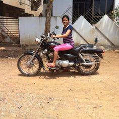 indian lady riding bike 373 - IndiaGirlsOnBike - Women Empowerment Of India
