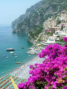 Beach at Positano. Positano, Italy. Color photography by Donna Corless.         See Italy from the inside! Check this out: http://vzturl.com/hb52