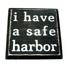 I Have A Safe Harbor - Mini Magnetic Wood Box Sign by Primitives by Kathy, $7.99