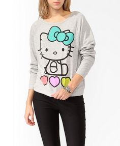 Forever 21 is the authority on fashion & the go-to retailer for the latest trends, styles & the hottest deals. Shop dresses, tops, tees, leggings & more! Graphic Tees, Graphic Sweatshirt, Sweater Weather, Diy Clothes, Hello Kitty, Latest Trends, Fashion Beauty, Forever 21, Pullover