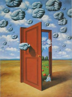 """""""In front of a painting, as in front of a beautiful woman, one must revel in wonder"""" - Rafal Olbinski. - """"Poetic humor is a quality rarely found in the fine arts"""" - says Andre Parinuad, President of the International Arts Salon in Paris. Rene Magritte, Surreal Artwork, Surrealism Painting, Painting Art, Wassily Kandinsky, Psychedelic Art, Oeuvre D'art, Art Inspo, Amazing Art"""