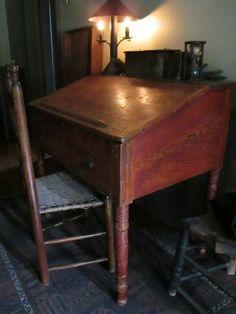 early 19th C. vinegar grain painted desk
