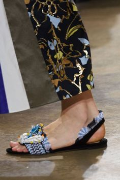 Prepare to Take Some Style Risks After Seeing the Genius Shoes at London Fashion Week  Peter Pilotto Spring '17