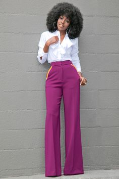 Ruffled Button Down + Contrast Pockets Wide Leg Pants Shirt: Available here, or similar here | Pants: Available here, or similar here | Shoes: Prada Fashion Look by Style Pantry