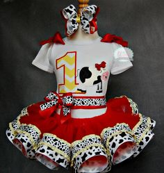UDDERly ADORABLECow Tutu SetIncludes Top or by lilabbehandmade