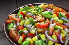 Avolution Avocado And Corn Salad Corn Salad Recipes, Corn Salads, Coffee Banana Smoothie, Australian Food, Australian Recipes, Spanish Food, Avocado Dressing, Fruit Salad, Good Food