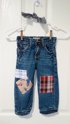 The Scotty Patchwork Upcycled Jean Sz 3T