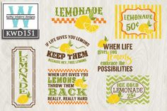 Lemonade Cutting Files KWD151 By KWDesigns