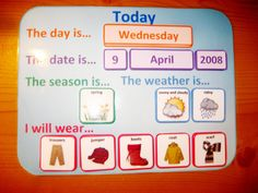 Weather Wear Calendar PDF - Routine Organiser Printable File Folder Game. Days Dates Weather Clothes. Great Autism Aspergers ABA Resource. £5.00, via Etsy.