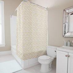 Soft Gold Gradient Princess Crown Pattern Shower Curtain - shower curtains home decor custom idea personalize bathroom