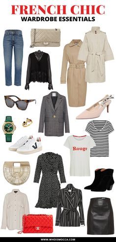 Werbung, French Chic Capsule Wardrobe Essentials, französische Mode, Parisian Style Tipps, French Chic Outfits, Online Shops für französische Mode, Mode Tipps, Style Guide, www.whoismocca.com