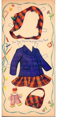 Sunbonnet Sue Paper Doll