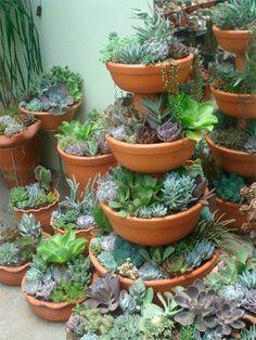 12 maniere om vetplante uit te stal. Kry inspirasie vir 'n vetplant-tuin – binne of buite – met dié idees wat ons blogger vandeesweek op Pinterest opgespoor het.