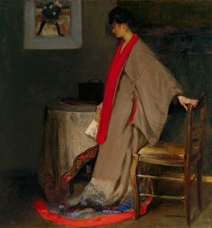 Alfred Henry Maurer- Young woman in kimono 1901