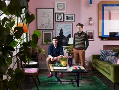 The history boys how one couple's funky flat is bringing the past alive is part of - Rising design star Luke Edward Hall on colour, clutter and being brave when it comes to decorating Funky Home Decor, Rooms Home Decor, Home Decor Styles, Interior Inspiration, Room Inspiration, Edward Hall, Pink Walls, Creative Home, The Guardian